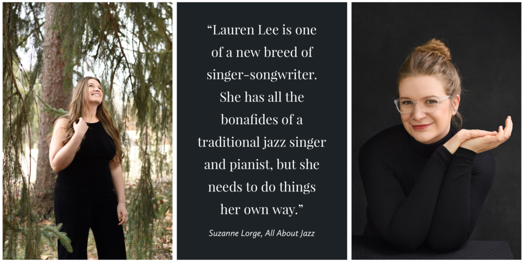 Photographed by Gwendolyn Mercer Photography, St. Louis, Missouri. NYC Jazz Musician Lauren Lee heralded as a new breed of singer-songwriter in review by Suzanne Lorge