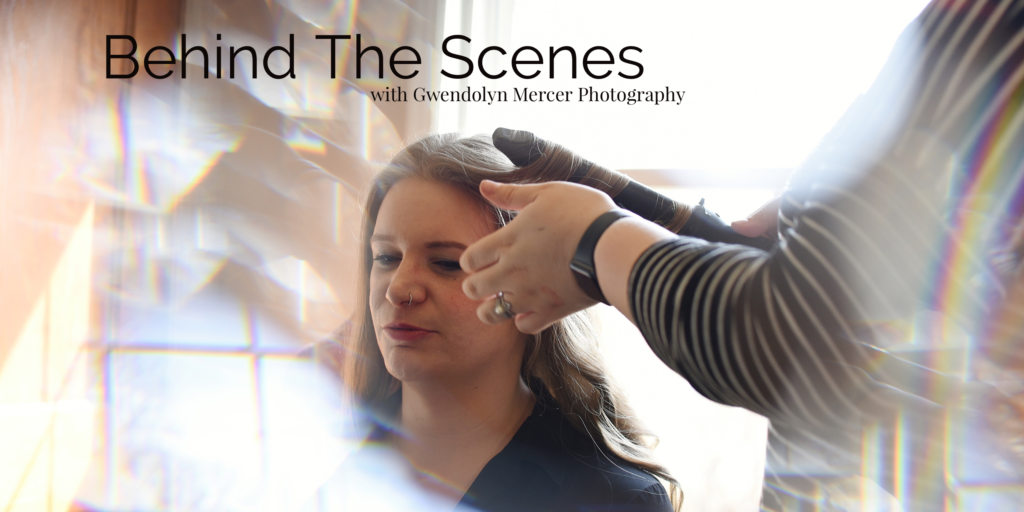 NYC Jazz Musician Lauren Lee having her hair and makeup done for portraits taken by St. Louis Photographer Gwendolyn Mercer